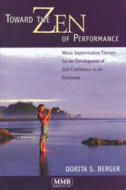 Cover of: Toward the Zen of Performance | Dorita S. Berger