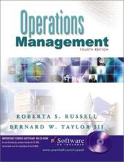 Cover of: Operations Management and Student CD, Fourth Edition | Roberta S. Russell