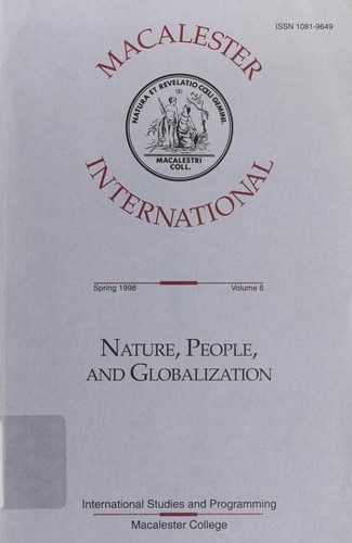 Nature, people and globalization by Ahmed I. Samatar, Mary Vincent Franco