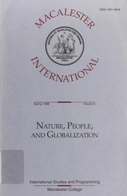 Cover of: Nature, people and globalization | Ahmed I. Samatar, Mary Vincent Franco