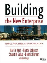 Cover of: Building the new enterprise: people, processes, and technology