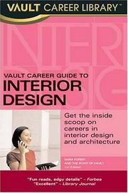 Cover of: Vault Guide to Interior Design Careers (Vault Career Guide to Interior Design) | Sara D. Forest