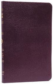 Cover of: ESV Thinline Bible, Premium Bonded Leather, Burgundy, Red Letter Text |