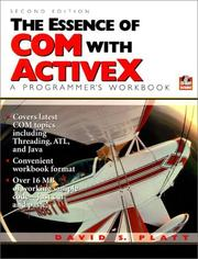 Cover of: essence of COM and ActiveX | David S. Platt