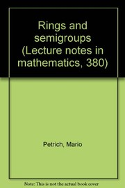 Cover of: Rings and semigroups