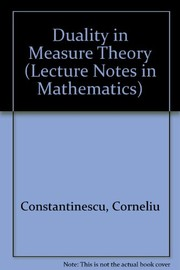 Cover of: Duality in measure theory