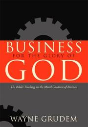 Cover of: Business for the Glory of God