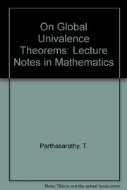 Cover of: On global univalence theorems | T. Parthasarathy