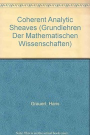 Cover of: Coherent analytic sheaves