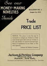 Cover of: Trade price list
