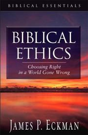 Cover of: Biblical Ethics