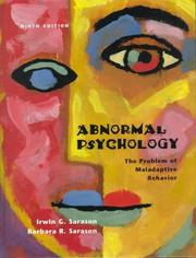 Cover of: Abnormal psychology | Irwin G. Sarason