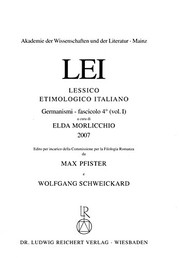 Cover of: Lessico Etimologico Italiano: Germanismi Vol. 1, Fasc. 4 (Italian Edition)