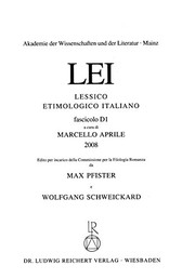 Cover of: Lessico Etimologico Italiano Lfg. D 1 (Italian Edition)