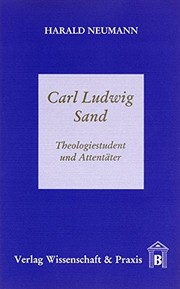 Cover of: Carl Ludwig Sand