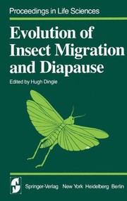 Cover of: Evolution of insect migration and diapause