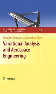 Cover of: Variational Analysis and Aerospace Engineering (Springer Optimization and Its Applications Book 33)