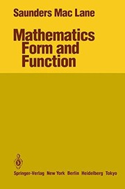 Cover of: Mathematics, form and function