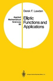 Cover of: Elliptic functions and applications