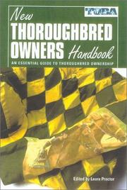 Cover of: The New Thoroughbred Owners Handbook | Laura Proctor