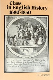 Cover of: Class in English history, 1680-1850 | R. S. Neale