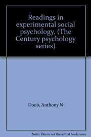 Cover of: Readings in experimental social psychology | Anthony N. Doob