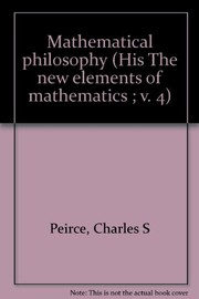 Cover of: Mathematical philosophy