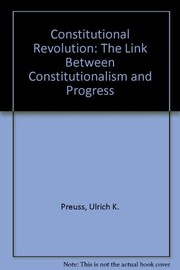 Cover of: Constitutional revolution | Ulrich Klaus Preuss
