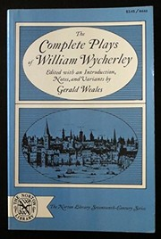 Cover of: The complete plays of William Wycherley