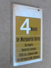 Cover of: Four novels | Duras, Marguerite.