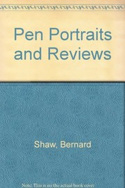 Cover of: Pen portraits and reviews
