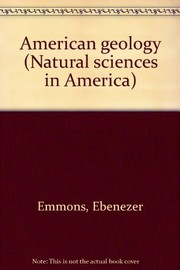 Cover of: American geology. | Ebenezer Emmons