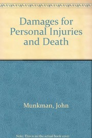 Cover of: Damages for personal injuries and death | John H. Munkman