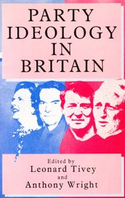 Cover of: Party ideology in Britain