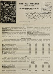 Cover of: 1933 fall trade list