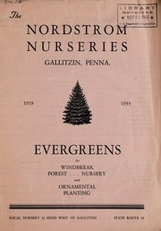 Cover of: Evergreens for windbreak, forest, nursery and ornamental planting