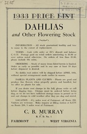 Dahlias and other flowering stock