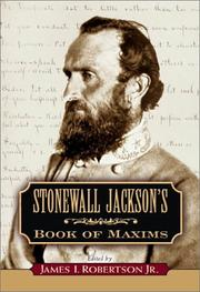 Cover of: Stonewall Jackson's book of maxims