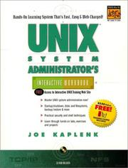 Cover of: UNIX system administrator