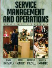 Cover of: Service Management and Operations (2nd Edition) | Cengiz Haksever