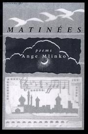 Cover of: Matinées | Ange Mlinko