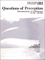 Cover of: Questions of perception