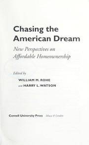 Cover of: Chasing the American dream