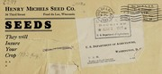 Cover of: Seeds | Henry Michels Seed Co