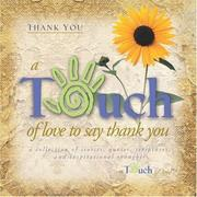 Cover of: Touch of Love Thank You (Touch of Love)