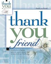 Cover of: Thank You Friend (Gift Book)