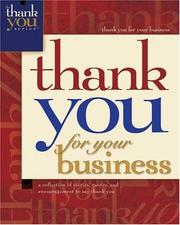 Cover of: Thank You For Your Business (Thank You (Howard Publishing))
