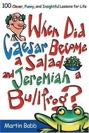 Cover of: When Did Caesar become a Salad