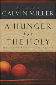 Cover of: A Hunger for the Holy