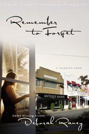 Cover of: Remember to Forget (Clayburn Novels Series #1)
